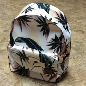 White tropical Roxy backpack NWT!
